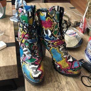 Liliana snake rainbow boots
